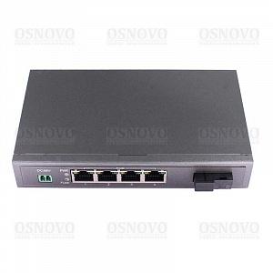 SW-40401S5b/A OSNOVO Коммутатор 4-портовый с РоЕ